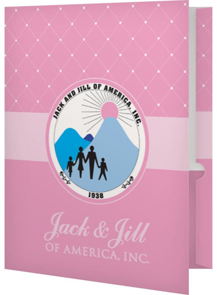 Jack and Jill Folders with Logo (set of 2)