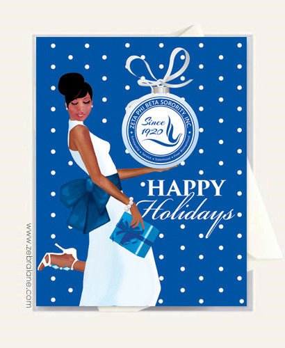 Zeta Phi Beta Ornament Christmas Cards