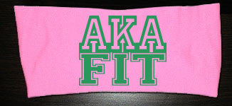 AKA FIT Moisture Wicking Headband- Pink