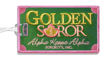 AKA Golden Soror Luggage Tags - Set of 2