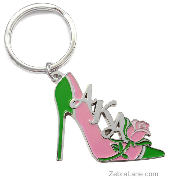 AKA Rose Shoe Keychain