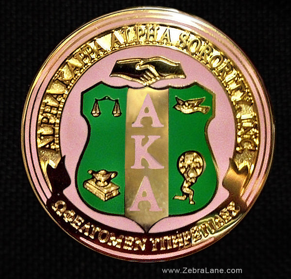 AKA Shield Round Lapel Pin