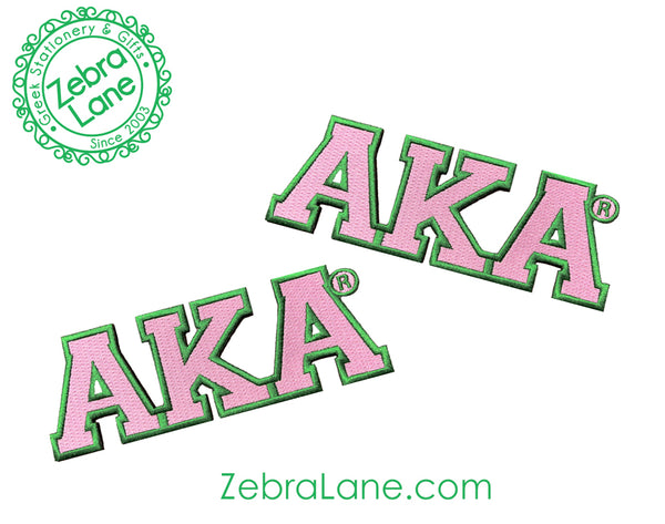 AKA Pink Letters Patch - Small - Set of 2