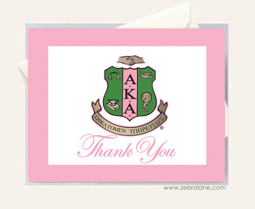 AKA Shield Thank You Cards