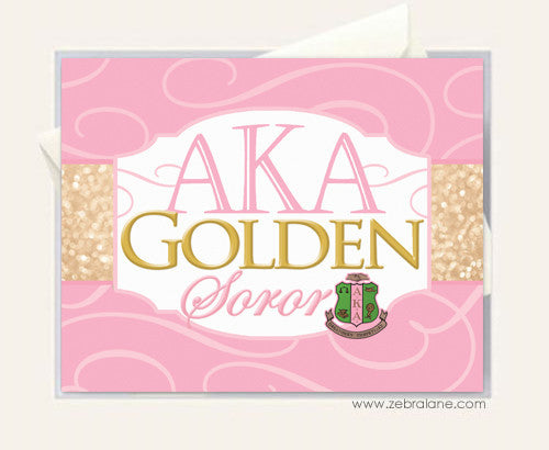AKA Golden Soror Note Card