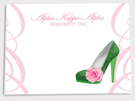 Alpha Kappa Alpha Green Shoe Sticky Notes - 5 pack