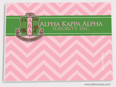 Alpha Kappa Alpha Pink Chevron Sticky Notes - Set of 5