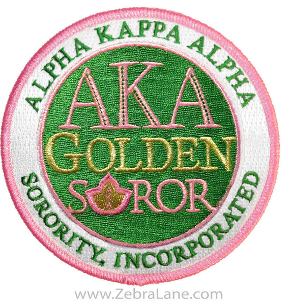 Alpha Kappa Alpha Round Golden Soror Patch