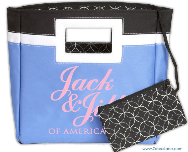 Jack and Jill of America Squared Tote Bag