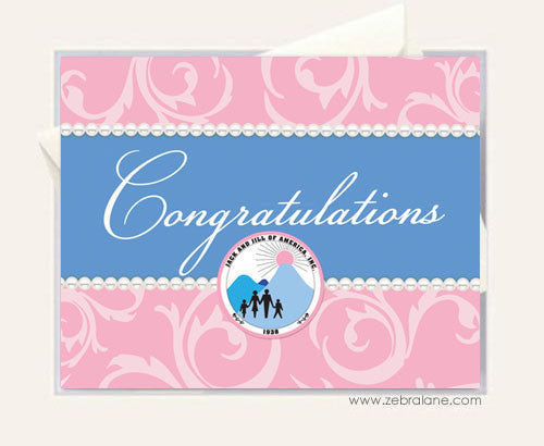Jack and Jill Pearl Congratulations Cards