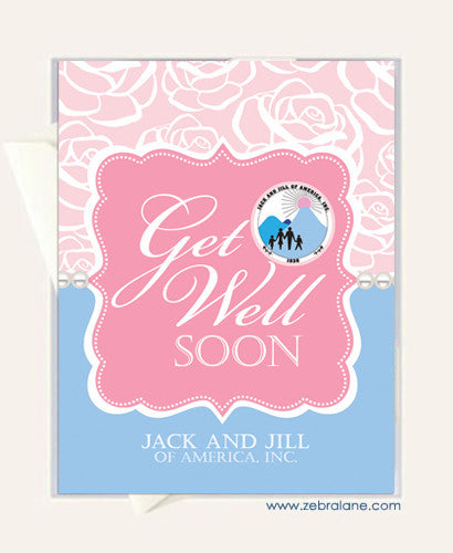 Jack and Jill Rose Get Well Cards
