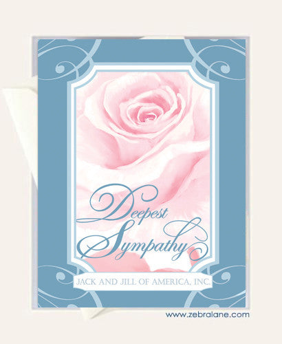 Jack and Jill Rose Sympathy Card 2