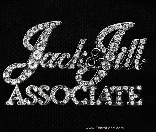 Jack and Jill of America Associate Rhinestone Lapel Pin