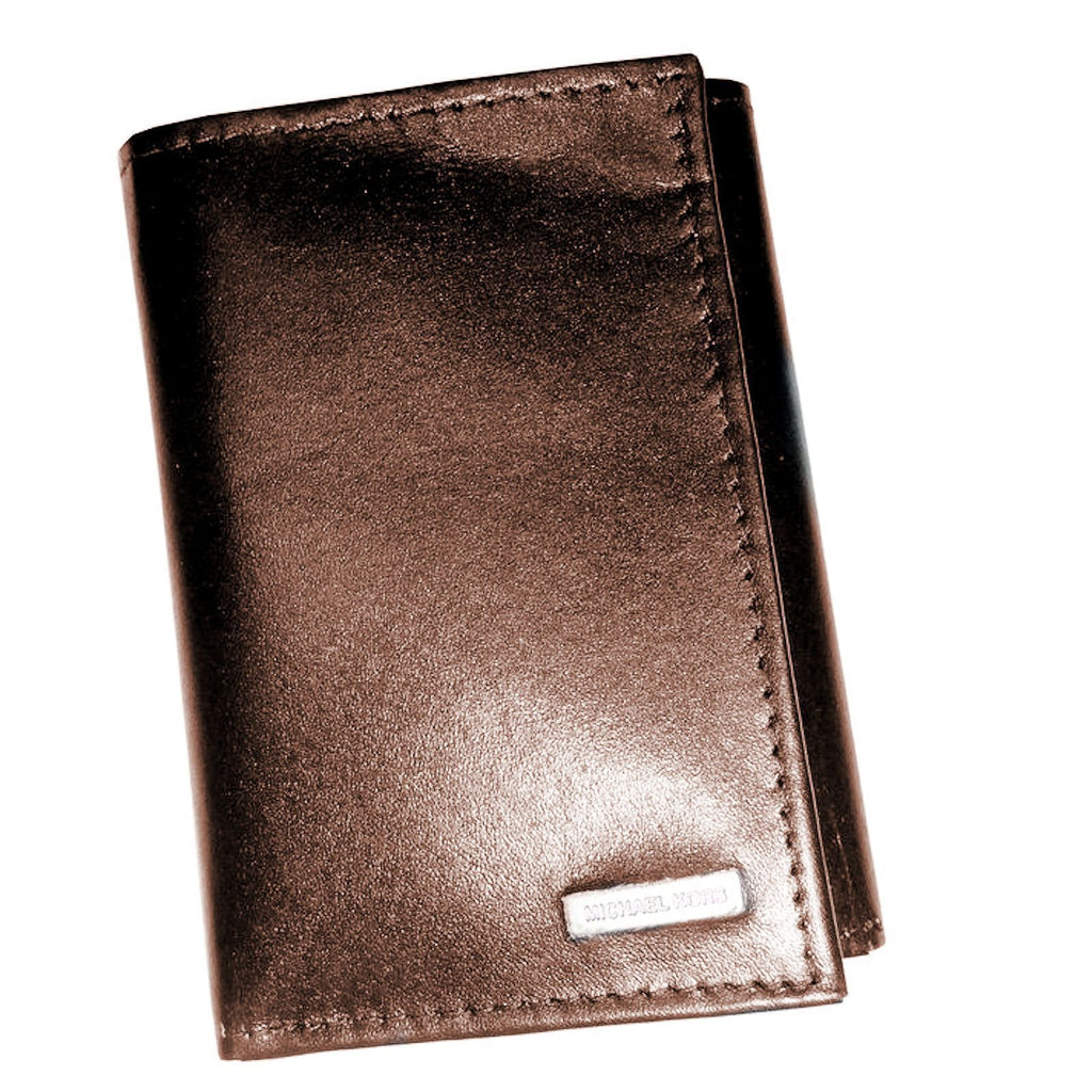 0464964ad411 Michael Kors Mens Full Grain Leather Trifold Wallet Brown or Black Boxed  2930328