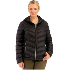 729a0a77c MICHAEL Kors Packable Quilted Down Puffer Hooded Coat Jacket Purple ...