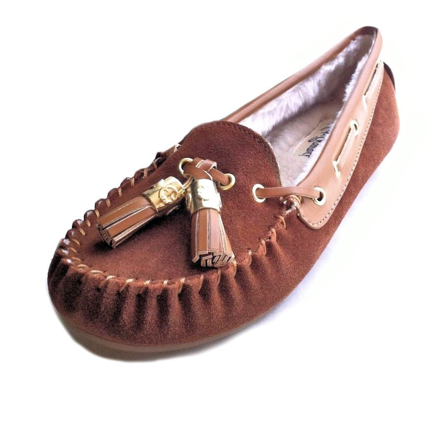 39af7aef11c LUCKY Brand Moccasin Suede Leather Slipper LP Aaron Flats Sequoia Brown  Women 8