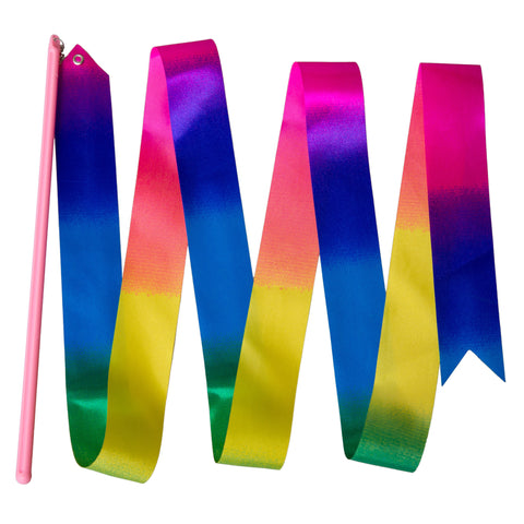 Rainbow Pre-School Ribbon and Pink Ribbon Stick