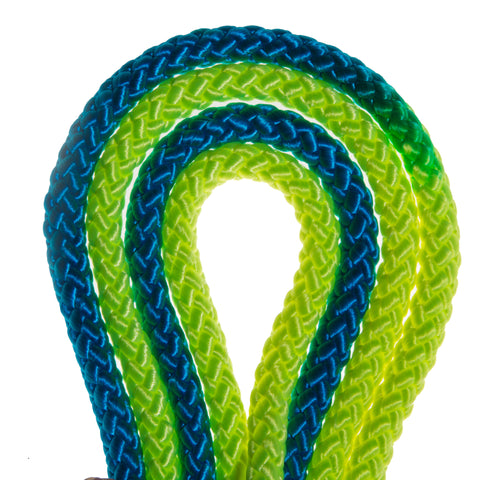 Blue and Neon Yellow Imported Rhythmic Gymnastic Rope