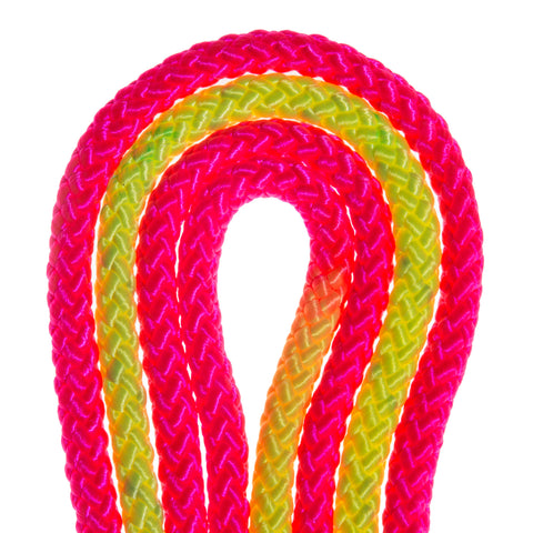 Neon Pink and Neon Yellow Imported Rhythmic Gymnastic Rope