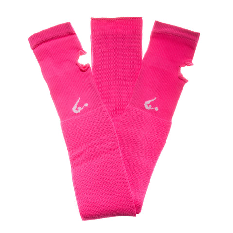 Neon Pink Knitted Legwarmers