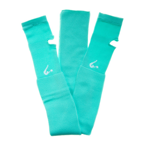 Turquoise Knitted Legwarmers