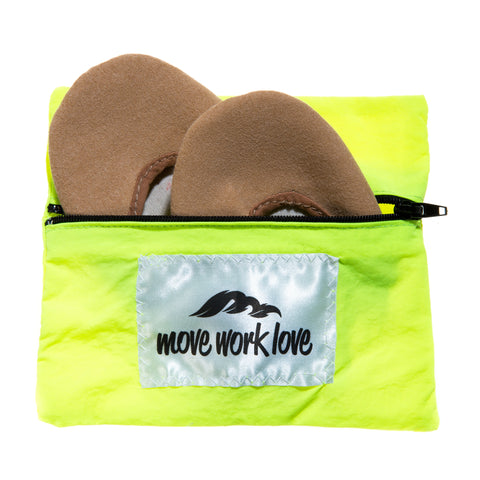 Neon Yellow Rhythmic Gymnastic Toe Shoe and Sock Bag