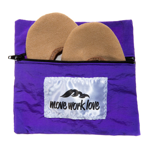 Violet Rhythmic Gymnastic Toe Shoe and Sock Bag