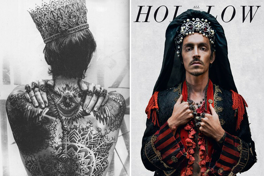 Brandon Boyd in All Hollow Magazine • Lee Brevard Eladio Rosary