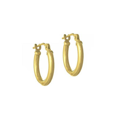 Gold Latch Hoop Earring-Brevard