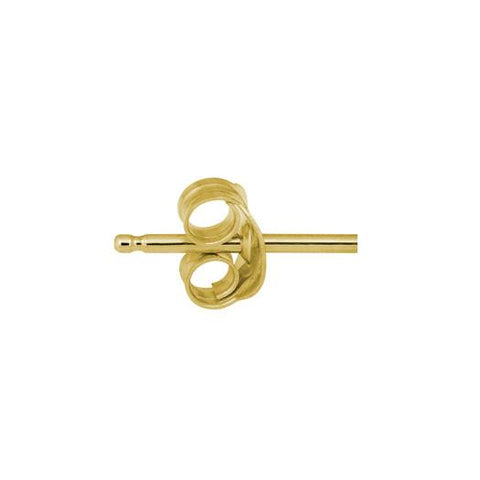 Gold Tiny Center Moon Stud Earring-Brevard