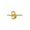 Gold Tiny Center Heart Stud Earring-Brevard