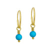 4 - 4.5 mm Turquoise Drop • Endless Hoop Charm Earring-Brevard