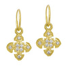 Gold 8 Stone Medium Cruz • Endless Hoop Charm Earring-Brevard
