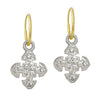 8 Stone Medium Cruz • Endless Hoop Charm Earring-Brevard