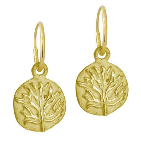 Gold Acanthus Coin Earring-Brevard