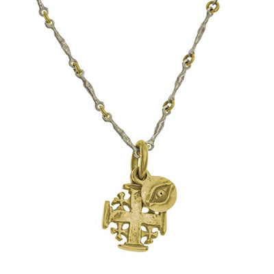 Two-Tone Acre Layered Pendant Necklace-Brevard
