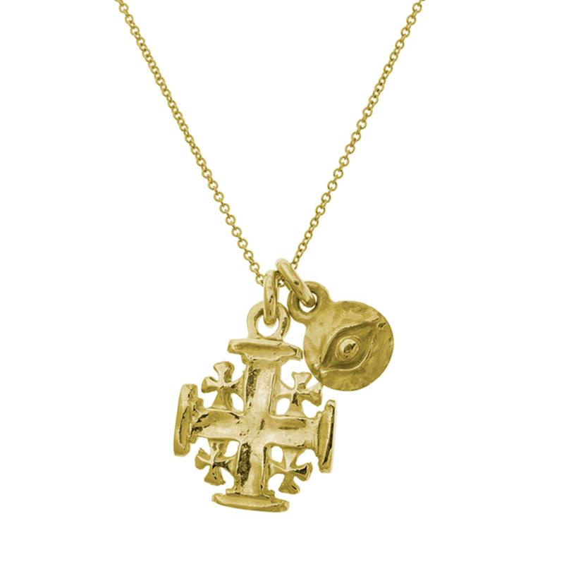 Gold Acre Double Charm Necklace-Brevard
