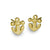 Gold Anchor Stud Earring-Brevard