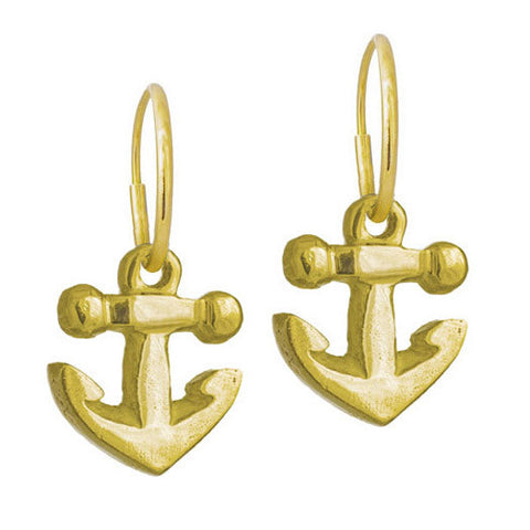 Gold Anchor Earring-Brevard