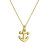 Gold Anchor Charm Necklace-Brevard