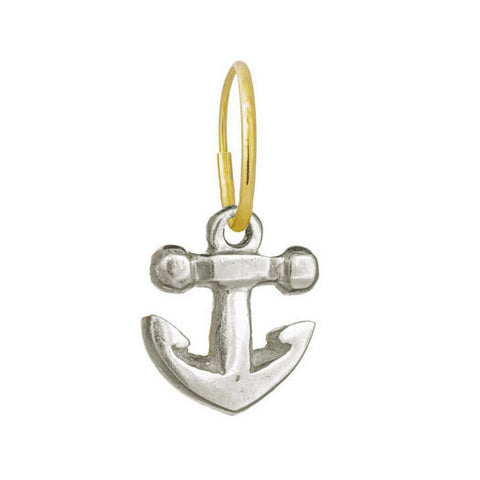Anchor • Endless Hoop Charm Earring-Brevard