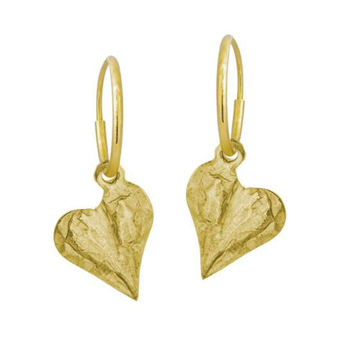 Gold Apollo Heart Earring-Brevard