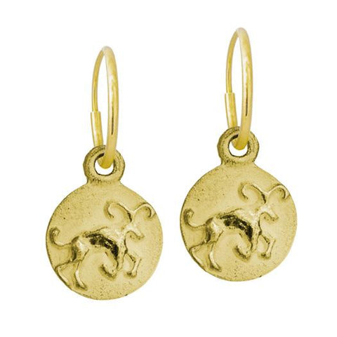 Gold Aries Earring-Brevard