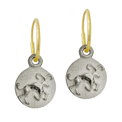 Aries • Endless Hoop Charm Earring-Brevard