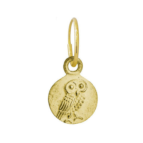Gold Athena Coin Earring-Brevard