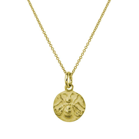 Gold Bee Charm Necklace-Brevard