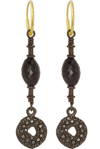 Black Diamond Pavé Fancy Old Money Earring-Brevard