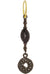 Black Diamond Pavé Fancy Old Money • Endless Hoop Charm Earring-Brevard