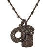 Black Diamond Pavé Layered Old Money Dog Tags Necklace-Brevard