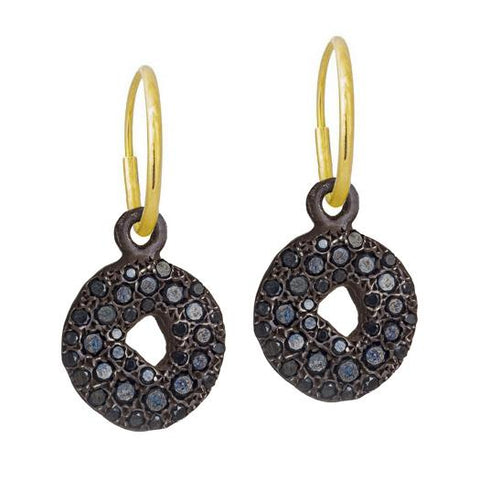 Black Diamond Pavé Old Money Earring-Brevard